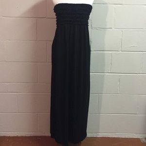 Black Strapless Ruffle Xhilaration Maxi Dress